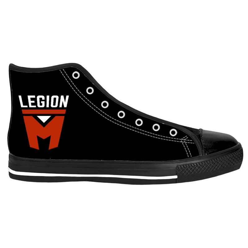 LEGION M - BLACK WITH COLOR LOGO - HIGH-TOP SHOES (PRE-ORDER)