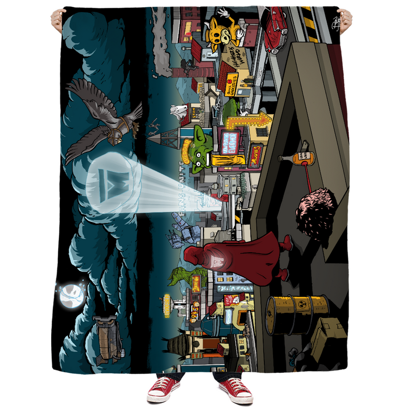 LEGION M - 2020 Spotlight Art - Throw Blanket (PRE-ORDER)