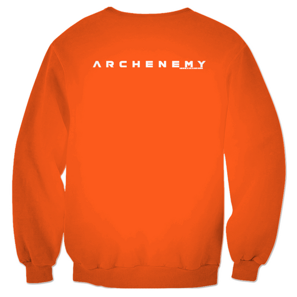 ARCHENEMY - TRENDIBLE CAT - ORANGE PULLOVER SWEATER
