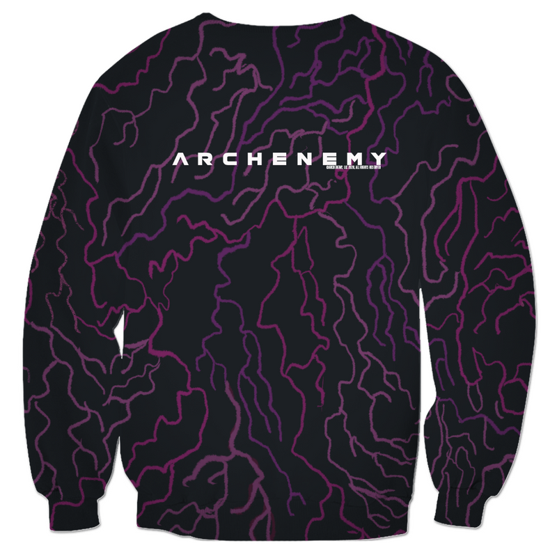 ARCHENEMY - CAPE PATTERN FLYING - ALL OVER PRINT PULLOVER SWEATER