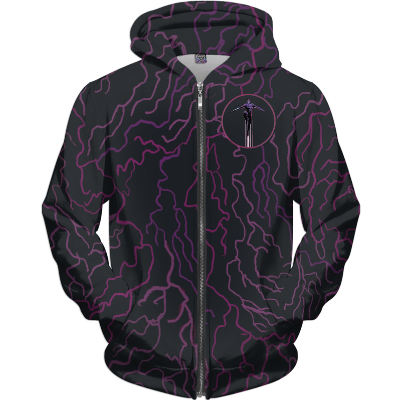 ARCHENEMY - CAPE PATTERN FLYING - ALL OVER PRINT ZIP-UP HOODIE
