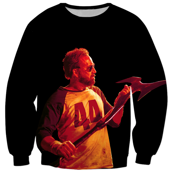 MANDY - RED MILLER ADMIRING THE BEAST - ALL OVER PRINT PULLOVER SWEATER