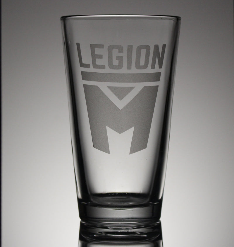Legion M - Stacked Logo - Pint Glass (PRE-ORDER)