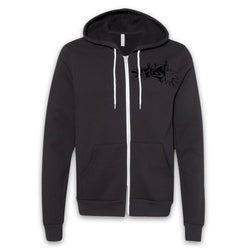 ARCHENEMY - Splash Black Logo Zip-Up Hoodie