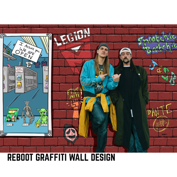 JAY & SILENT BOB REBOOT - Graffiti Wall Collab - Reboot Blue Navy Wash