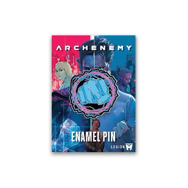 ARCHENEMY - Max Fist Superhero Pin
