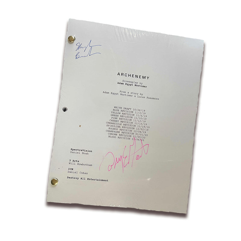 ARCHENEMY - Signed Screenplay (Adam Egypt Mortimer & Skylan Brooks)