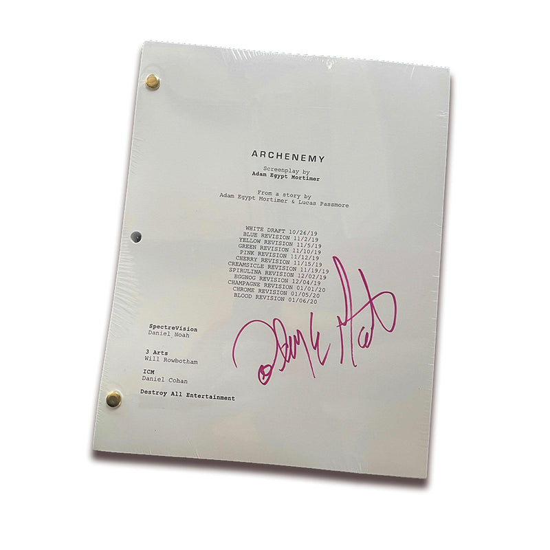 ARCHENEMY - Signed Screenplay (Adam Egypt Mortimer)
