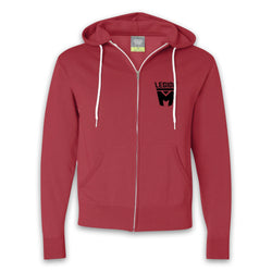 LEGION M - Black Shield Pocket Logo Zip-Up Hoodies