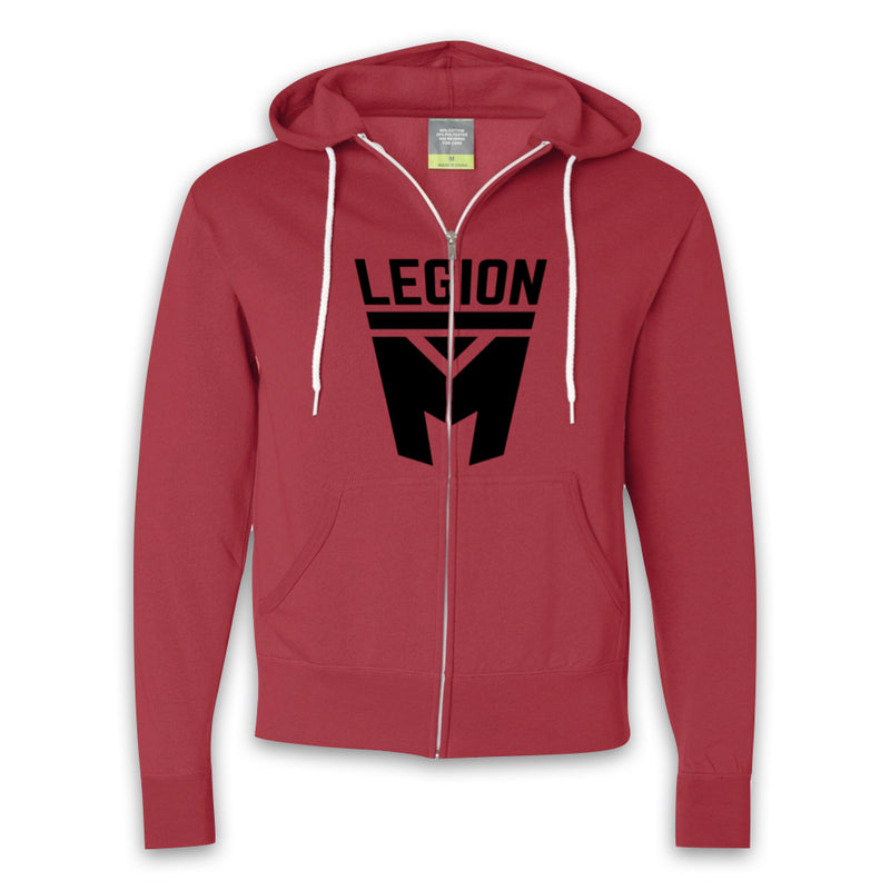 LEGION M - Black Shield Zip-Up Hoodies