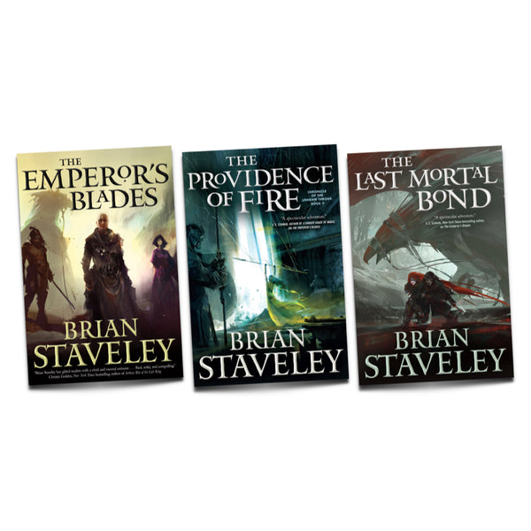 CHRONICLE OF THE UNHEWN THRONE - Autographed 3 Book Series