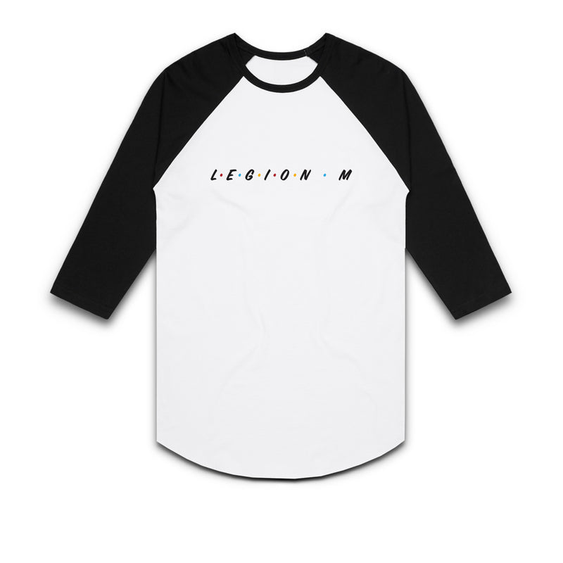 LEGION M - Friends Unite! (Logo Only) - White/Black Raglan