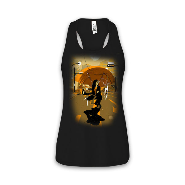 THE LEFT RIGHT GAME - Supernatural Journey - Women's Black Racerback Tank