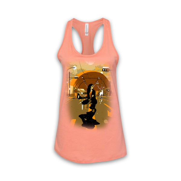 THE LEFT RIGHT GAME - Supernatural Journey - Women's Sunset Racerback Tank