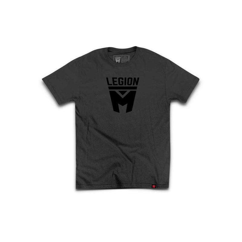 LEGION M - Stealth Black Logo Tee