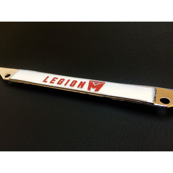 LEGION M - Chrome Metal License Plate Frame