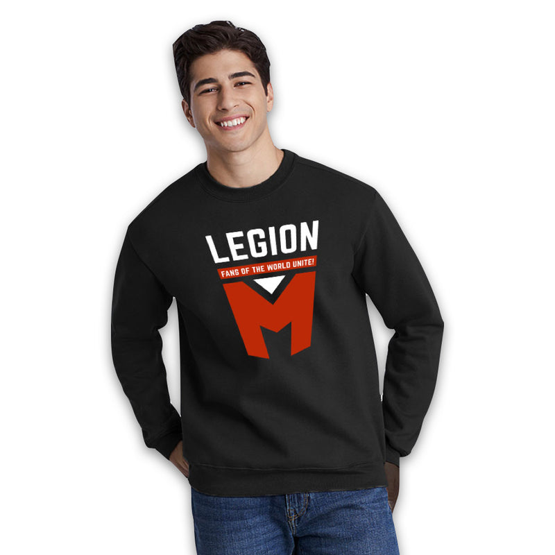 LEGION M - Fans Of The World Unite Legion M Shield - Black Pullover Hoodie