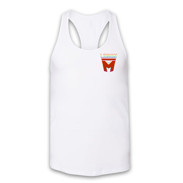 LEGION M PRIDE - Pocket Rainbow Outline - Women's Racerback Tank