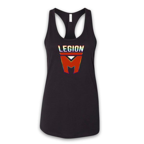 LEGION M PRIDE - Rainbow Outline - Women's Racerback Tank
