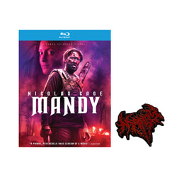 MANDY - Blu Ray with Limited Edition Pin