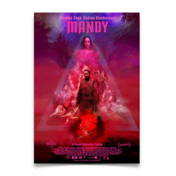 MANDY - One Sheet Movie Theater Poster Signed by Panos Cosmatos