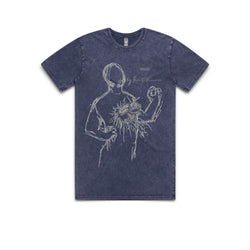 MEMORY: THE ORIGINS OF ALIEN - Dan O'Bannon Sketch - Blue Wash Tee