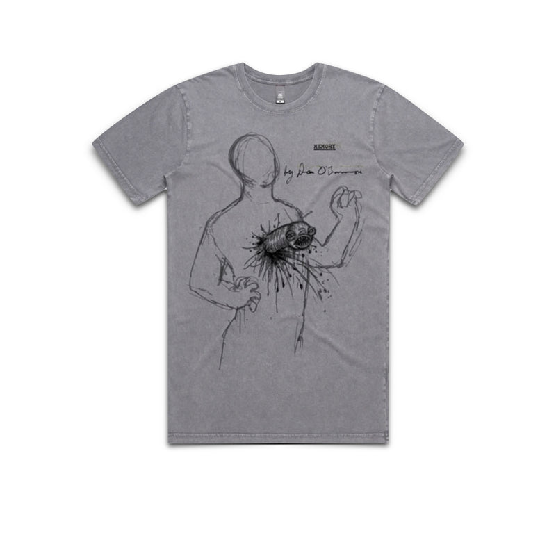 MEMORY: THE ORIGINS OF ALIEN - Dan O'Bannon Sketch - Grey Tee