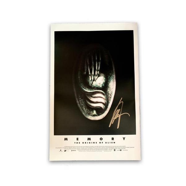 MEMORY: THE ORIGINS OF ALIEN - H.R. Giger Alien Egg Signed Poster