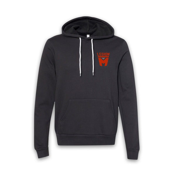 LEGION M - Red Shield Pocket Logo Pullover Hoodie