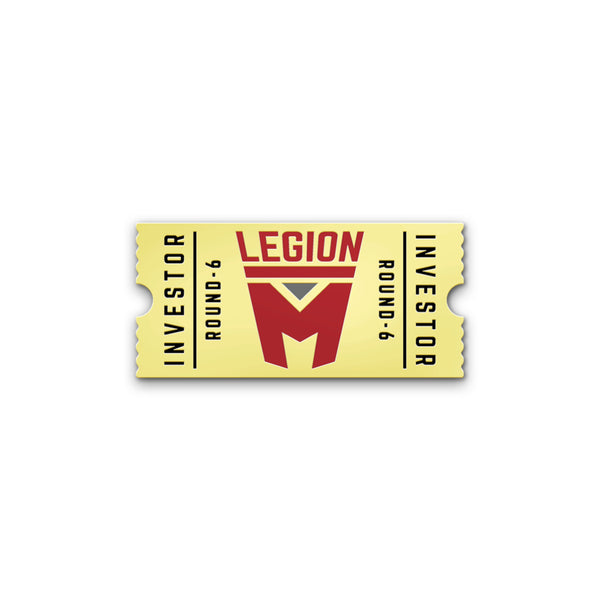 LEGION M - Round 6 Investor Pin - Gold Edition