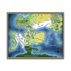 THE EMPEROR'S BLADES - Annurian Empire Map Poster - Limited Edition