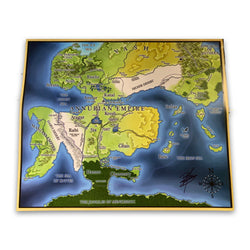 THE EMPEROR'S BLADES - Annurian Empire Map Poster - Autographed Edition