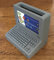 Computer business card holder