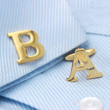 Golden Alphabets Cufflinks - Rewards Bonanza
