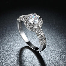 1.90 CTTW Single Crystal Multi Pav'e Engagement Ring Set in 18K White Gold - Rewards Bonanza