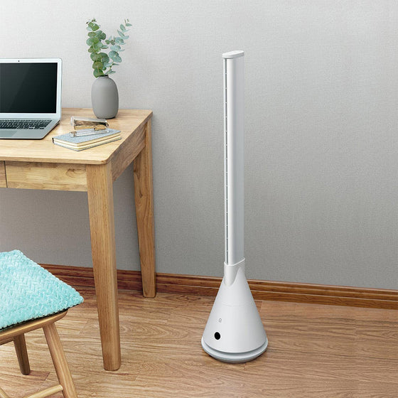 Intelligent Remote Control Tower Style Vertical Leafless Fan - Rewards Bonanza
