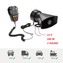 Car Alarm Horn 12V 100W 7 Siren Sounds Car Siren - Rewards Bonanza