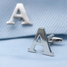 Silver Alphabets Cufflinks - Rewards Bonanza