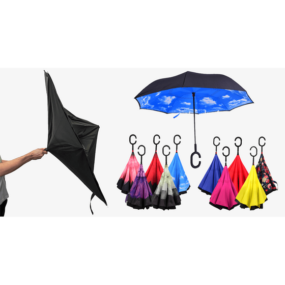 Smart-Brella - The World's First Reversible Umbrella (Ships From USA) - Rewards Bonanza