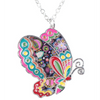 Colorful Butterfly Pendant Necklace  (Ships From USA) - Rewards Bonanza