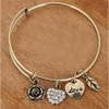 Rose Heart Charm Bangle  (Ships From USA) - Rewards Bonanza