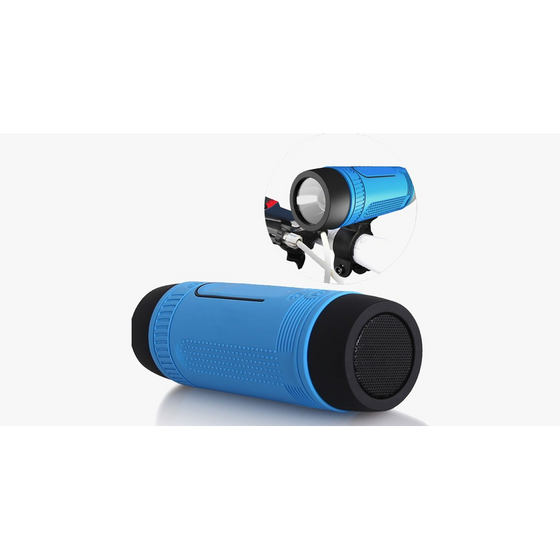Bicycle Waterproof Bluetooth Speaker LED Light  (Ships From USA) - Rewards Bonanza