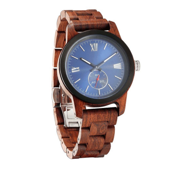 Men's Handcrafted Engraving Kosso Wood Watch - Best Gift Idea! - Rewards Bonanza