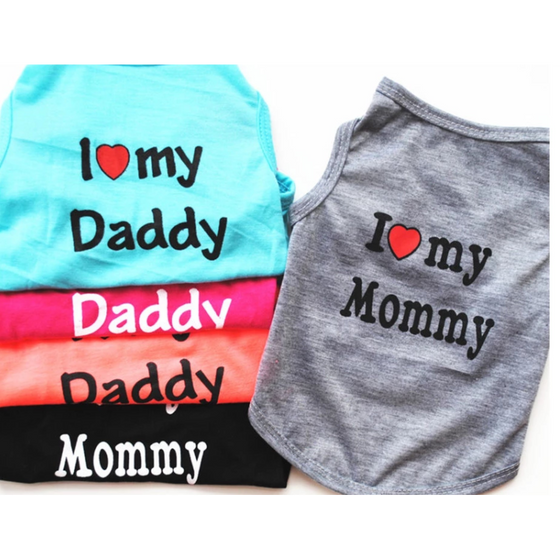 I love my mommy daddy Puppy T Shirt - Rewards Bonanza