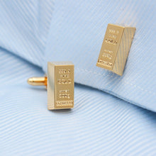 Gold Bar Cufflinks - Rewards Bonanza