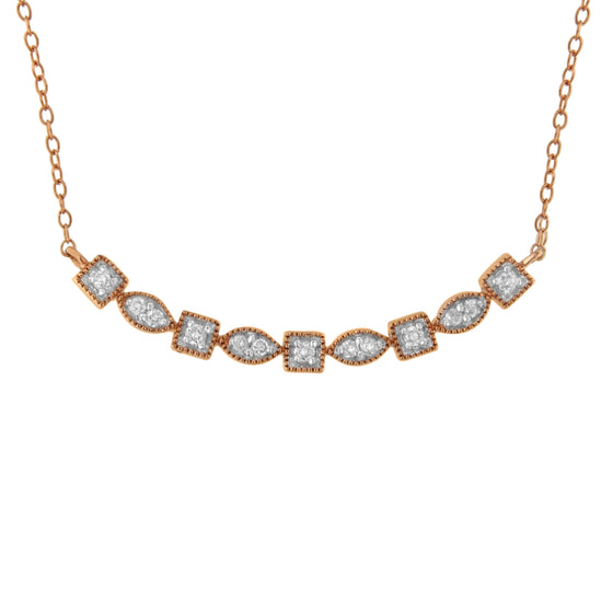 10k Rose Gold Plated Sterling Silver 1/4ct TDW - Rewards Bonanza