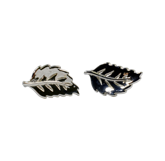 Sterling Silver Earrings - Aspen Leaf - Rewards Bonanza