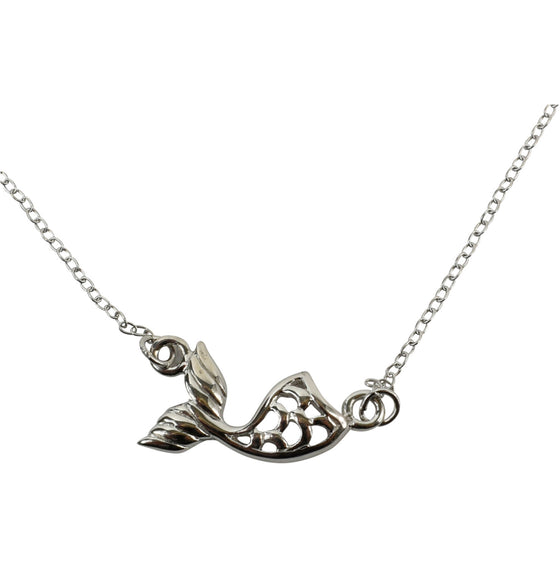 Sterling Silver Delicate Necklace - Mermaid's Tail - Rewards Bonanza