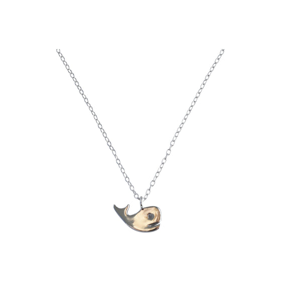 Sterling Silver Delicate Necklace - Whale - Rewards Bonanza
