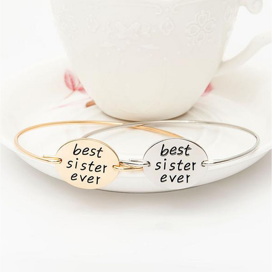Best Sister Ever Bangle (Ships From USA) - Rewards Bonanza
